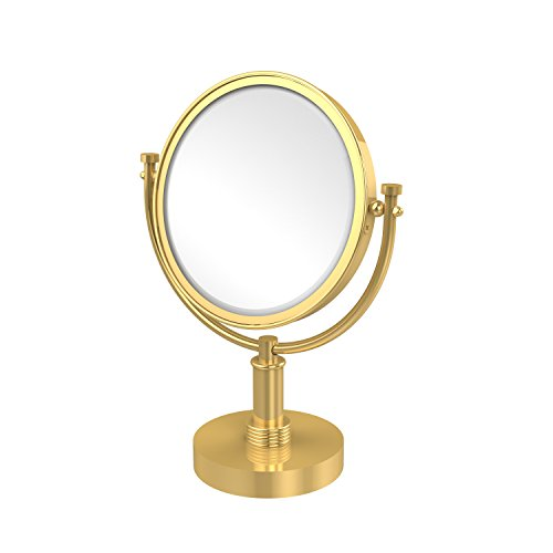 Allied Brass DM-4G/2X Espejo de Maquillaje de 20 cm con Aumento de 2 aumentos, latón Pulido