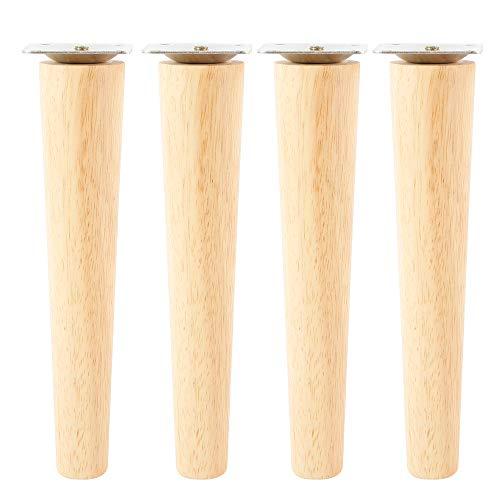 Juego de 4 patas de sofá de madera maciza, patas de muebles, para sillas, mesita de noche, armario, cajón, 20 cm