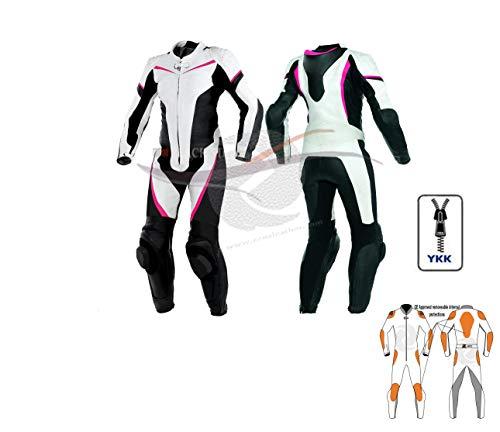 ajustable con protecciones CE XXL azul//negro tallas XS-4XL divisible en 2 piezas color negro//rojo Traje de moto para adulto de piel y tela chaqueta y pantal/ón BIESSE negro//azul y blanco//rojo