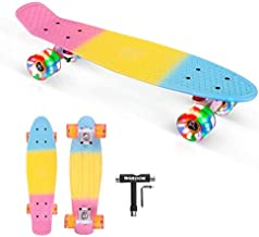 SGODDE Skateboards for Girls, Skateboard for Kids Ages 6-12, Longboard Skateboard 22