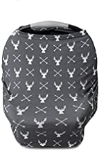 Kids N' Such Baby Car Seat Cover Car Seat Canopy & Nursing Cover, Gray Stag Deer