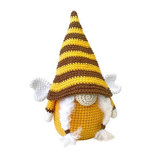 Sunnyushine Hummel-Gnome - Muñeca de punto para decoración del hogar, diseño de abeja del mundo