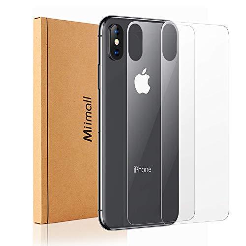 【2枚セット】対応iPhoneX Xs 背面 保護ガラスフィルム iPhone X Phone Xs 背面 強化ガラス 液晶保護フィルム 自動吸着 耐久性 iPhoneX Xs背面 専用 フィルム