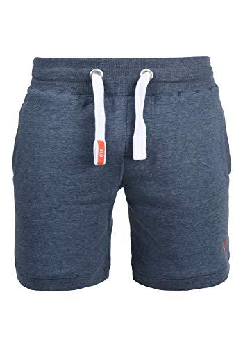 !Solid BennShorts Herren Sweat-Shorts Kurze Hose Sport-Shorts aus hochwertiger Baumwollmischung, Größe:M, Farbe:Grey Blue Melange (1946M)