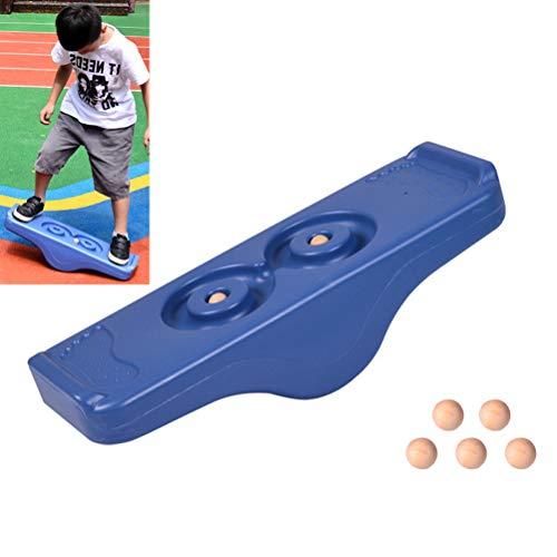 Holmeey Tabla de equilibrio para niños, balancín, monopatín de equilibrio con 5 pelotas, integración sensorial, juego de actividades en interiores y exteriores para niños