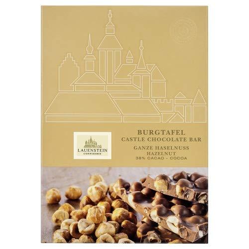 Lauensteiner Burgtafel Ganze Haselnuss275 g Vollmilchschokolade im XXL Formatalkoholfrei,ein schönes Geschenk für viele Anlässe oder einfach zum Genießen für die ganze Familie, 1er Pack