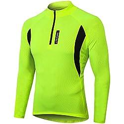 MEETWEE Herren Radtrikot Fahrradtrikot Langarm, Fahrradbekleidung Radshirt Fahrradshirts für Männer, Atmungsaktive Cycling Jersey Schnell Trocknen Radsport Bekleidung