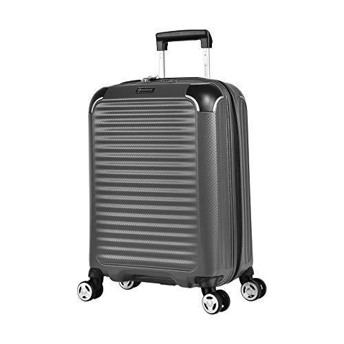 Eminent Koffer Materia S 55cm 42L super leicht extra Eckenschutz Anti-Kratz-Hartschale 4 Doppelrollen 360° Handgepäckkoffer Grau