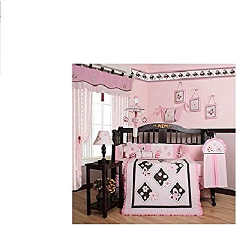 GEENNY Boutique 13 Piece Crib Bedding Set Pink Butterfly