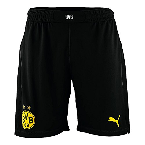 Puma Herren Shorts BVB Replica 745896 , schwarz (Black-Cyber Yellow), XXL,