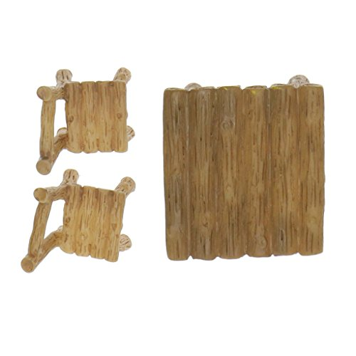 Fenteer Miniature en Résine Bonsaï Décoration Artisanat Micro-paysagère - 3X Chaise Table