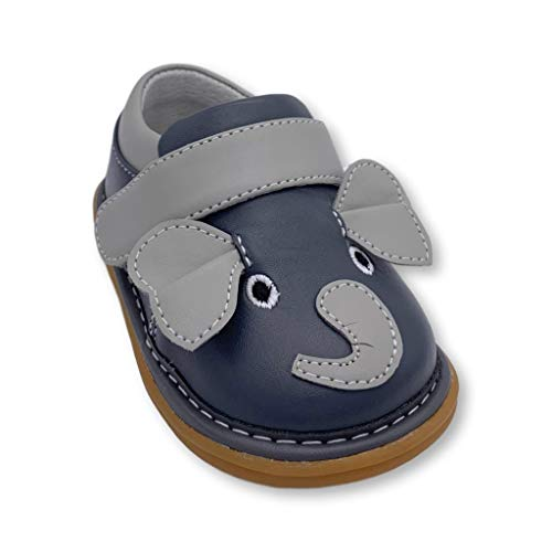Wee Squeak Toddler Squeaky Shoes Ellis The Elephant Grey Size 6