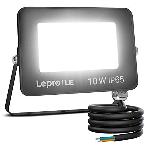 Lepro Foco LED Exterior 10W, Super Brillante 850 lúmenes, Foco LED Blanco Frío 5000 K, Ángulo de Haz 110°, IP65 Resistente al Agua, proyector led Exterior para Jardín, Garaje, Hotel, Patio, etc