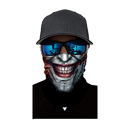 Lulupi Schlauchtuch Bedruckte Multifunktionstuch,Damen und Herren Halstuch Gesichtsmaske Atmungsaktiv Mund-Tuch Staubschutz Outdoor Schlauchschal Motorrad Fahrrad Schal Face Shield