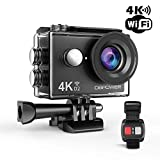 DBPOWER D2 4K Action Camera 12MP Ultra HD Waterproof Sports Cam with...