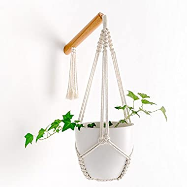 Mkono Macrame Wall Mount Hanging Plant Holder Planter Flower Pot Hanger