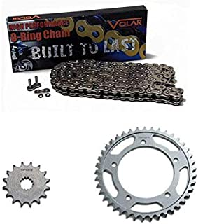 Volar O-Ring Chain and Sprocket Kit - Nickel for 1997-2005 Suzuki Bandit 1200 GSF1200S