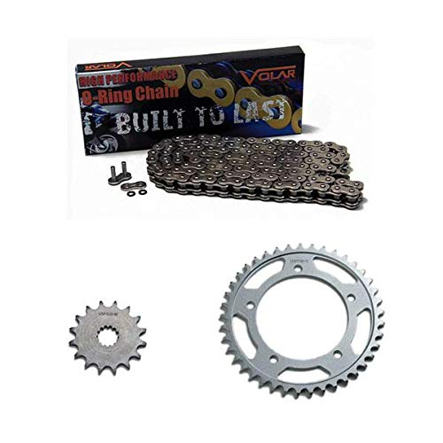 Volar O-Ring Chain and Sprocket Kit - Nickel for 2003-2005 Yamaha YZF R6