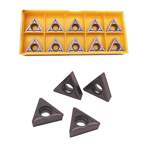 GBJ TCMT 32.52 TCMT16T308 VP15TF Carbide Inserts Excircle Turning Inserts Cutting Tools Processing of Steel parts and Stainless steel for STFCR2020K16 STFCR2525K16 Excircle Turning Tool Holder