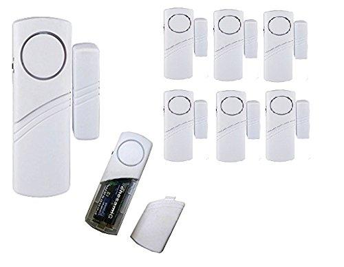 6 mini antifurto sensore porte finestre casa magnetico allarme acustico contatto sirena