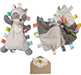 TAGGIES Soothing Raccoon Baby Gift Set- Baby Harley Lovey, Character Security Blanket and Gift Card-3 Items