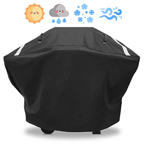 Utheer 3-4 Burners All-Season Large Rip-Stop Gas Grill Cover for Charbroil Classic 360 3-Burner 463773717, Performance 4 Burner 463377319 463375919 463376018P2 463347418 463361017 463377217, 62 Inch