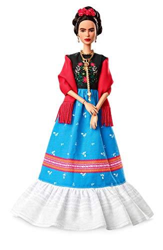 Barbie- Inspiring Women Frida Kahlo Bambola di Collezione, Giocattolo per per Bambini 6+ Anni, FJH65