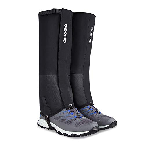 LOPOO Leg Gaiters Waterproof for Men and Women, Anti-Tear Snow Boot Gaiters 900D Nylon Fabric Breathable Shoe Gaiters for Outdoor Hiking Hunting Climbing (Small)