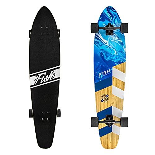 REWE Completo Skateboard para Principiantes,Tablero de Arce de 8 Capas, rodamiento ABEC-9,Adultos niños Skate surfskate patinetas 7 Capas Arce Doble Retroceso cóncavo Cruiser rodamiento de Bolas