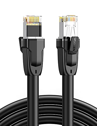 UGREEN Cable Ethernet Cat 8, Cable de Red LAN 40Gbps con Conector RJ45 (2000MHz, Cable SFTP) para PS5, Xbox X/S, PC, TV Box, Router, PS4, Servidor NAS, Compatible con Cat 6, Cat 5e, Cat 5 (1M)