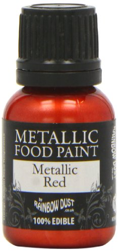 Rainbow Dust Metallic-Lebensmittelfarbe Red, 1er Pack (1 x 25 ml)