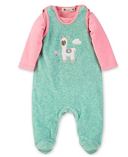 Sterntaler Baby-Mädchen Barboteuse Lotte Formender Body, Türkis (Türkis Mel. 455), 3-6 Monate (Herstellergröße: 62)