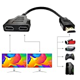 Best Hdmi Splitters - HDMI Splitter Cable Male 1080P to Dual HDMI Review