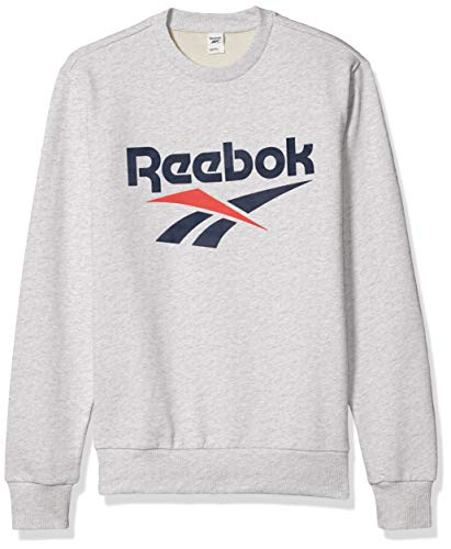 Reebok Classic Vector Crewneck, Light Grey Heather, Large