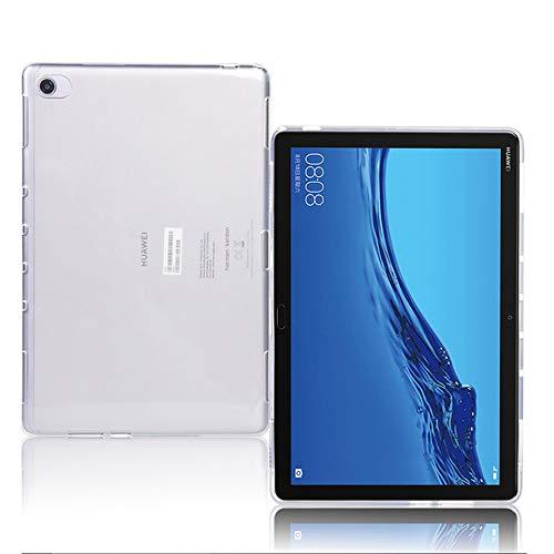 TOPACE Hülle für Huawei MediaPad M5 Lite 10, Soft Premium TPU Hülle Huawei MediaPad M5 Lite 10 Schutzhülle Silikon Semi-transparent Tablet Cover für MediaPad M5 Lite 10(Matt weiß)