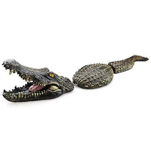 Krokodil Garten Dekor Schaum Material Simulation Krokodil Cool Dekor für zu Hause Pool Lake Park Krokodil Spielzeug für Angst Enten Gänse Reiher Wegschrecken
