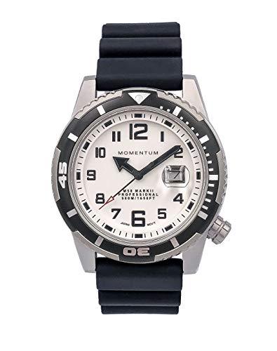Momentum Men's M50 Mark II Stainless Steel Japanese-Quartz Watch with Rubber Strap, Black, 20 (Model: 1M-DV52L1B)
