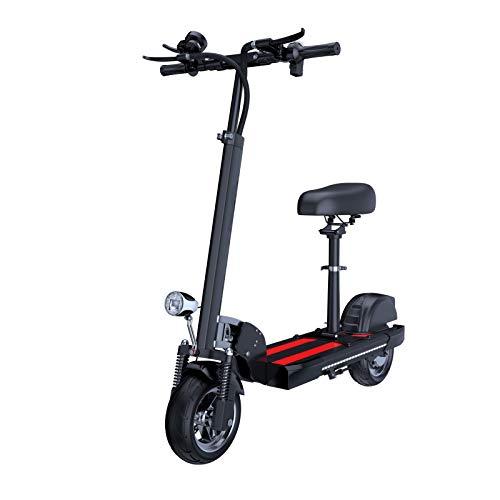 JLWDD Scooter Eléctrico Plegable para Adultos, Patinete eléctrico Velocidad Máxima 25 km/h, 45 km de Autonomía, 3 Modos de Velocidad batería de Alta Capacidad de 10AH