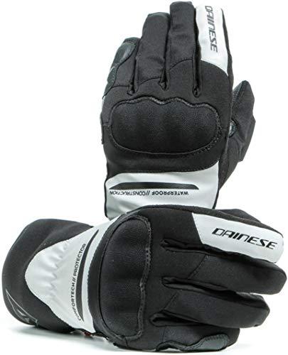 Dainese Aurora D-Dry - Guantes de moto impermeables para mujer, talla L, color negro y blanco