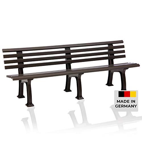 Blome Sitzbank Juist – Gartenbank für Garten, Balkon, Terrasse, Parkbank in braun, 4-Sitzer, Made in Germany