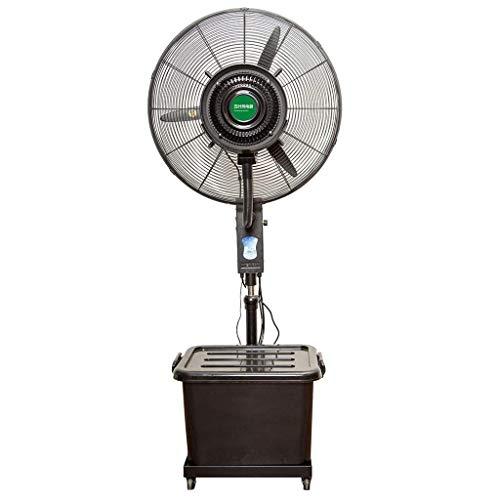 Floor fan JHome-Pedestal Fans Industrial Misting Spray Fan Factory vloerkoeling luchtbevochtiger Kantelbare centrifugale verstuiving schommelend ventilator met Wielen/Water bevochtiging fan 8bayfa