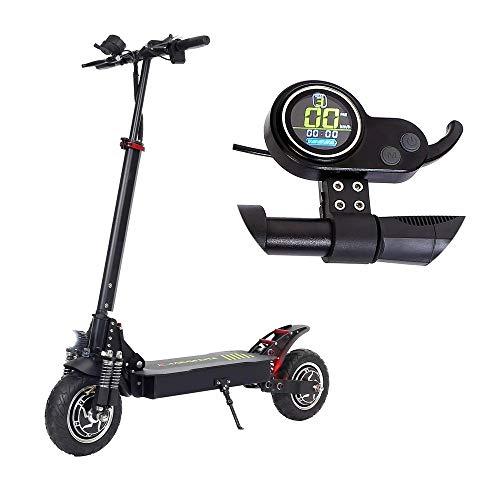Monopattino Elettrico 20.8Ah 48.1V 800W * 2 Dual Motor pieghevole display scooter elettrici Colore DC Brushless Motor 45 kmh Top Gamma di velocità 55 km ( Colore : Nero , Dimensione : Taglia unica )