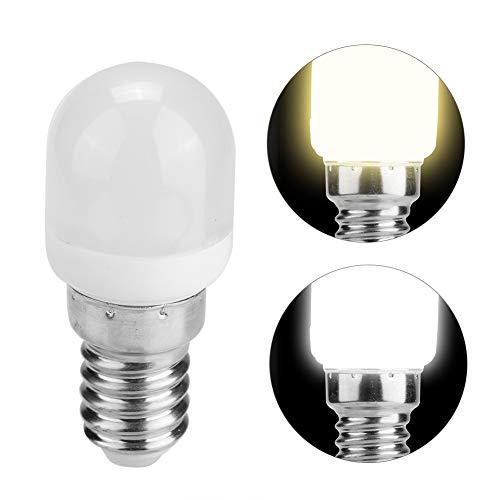 HERCHR Bombilla LED para Refrigerador 2W, Bombilla para Electrodomésticos para Máquina De Coser Horno Microondas, 220V T22 E14