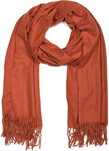 styleBREAKER suave chal monocolor con flecos, chal de invierno, estola, pañuelo, unisex...