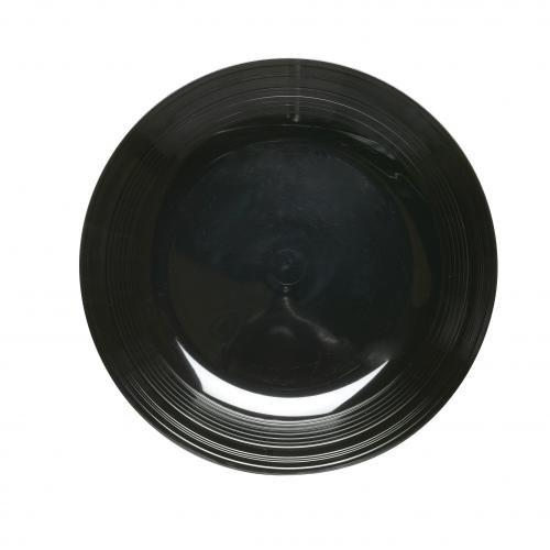 Plastico 1005bl Plastique Rond Platters-, Noir (Lot de 25)