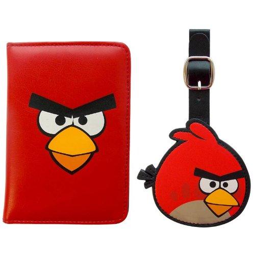 Angry Birds - Juego de Maletas Rojo Rojo/Negro Small