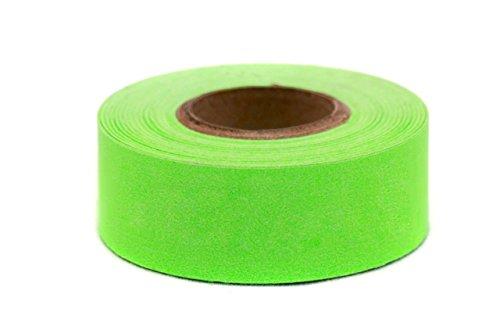 ChromaLabel 1 Inch Clean Remove Color-Code Tape, 500 Inch Roll, Fluorescent Green