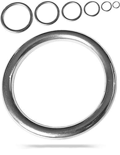 Edelstahl-Ringe | wählbar: 20mm - 50mm | 10 Stück | wetterbeständig | rostfrei | belastbar | geeignet für Segelsport - Boot | O-Ringe | Metall | Rundringe | Ring (Innendurchmesser: 30mm - 10 Stück)