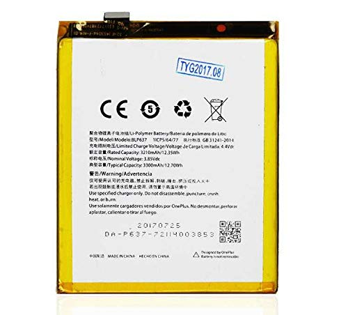 Todobarato24h Bateria Compatible ONEPLUS 5 / 5T / 5 T / A5000 (3.85V, 3300 mAh, BLP637)
