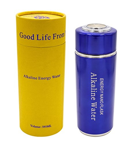 Portable Alkaline Water Filter Nano Energy Ionizer Flask Health Cup/Bottle Double Filtro (Blue) 380 ml